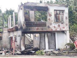Si jago merah beraksi, rumah dua lantai di Towuntu Timur ludes
