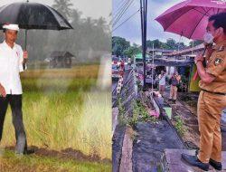 Lihat Gibran pakai payung, Netizen Girl: Maaf Pak Jokowi, cinta kami sekarang harus terbagi