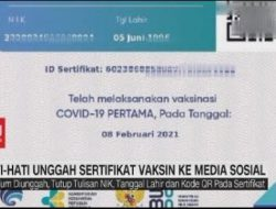 Rawan disalahgunakan, jangan sebar sertifikat vaksinasi Covid-19 di media sosial