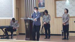 Pnt GSVL dapat kehormatan jadi khadim ibadah Polda Sulut sekaligus pamitan