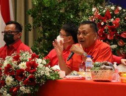 Rakercab PDIP Manado, Olly Dondokambey minta kadernya kawal pemerintahan AARS