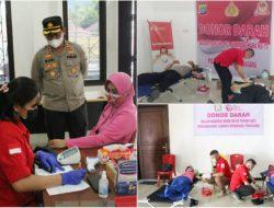 Polres Mitra gelar donor darah sambutHUT ke-75 Bhayangkara