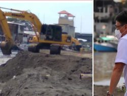 Normalisasi sungai, Andrei Angouw tinjau pengerukan Kuala Jengki